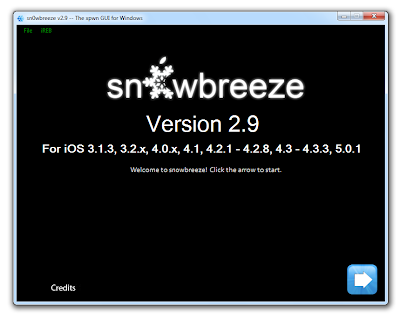 Jailbreak iOS 5.0.1 With Sn0wbreeze 2.9