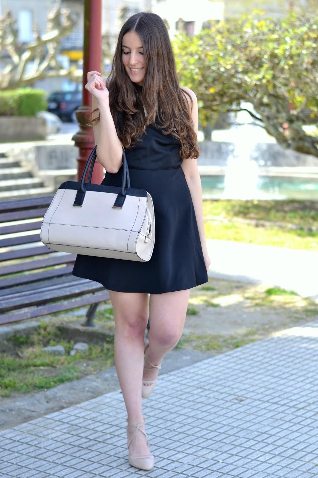 combinar vestido negro de sheinside