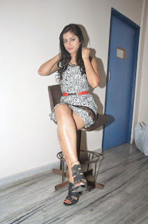 Ruby Parihar Pictures in Short Dress at Premalo ABC Movie Audio Launch Function