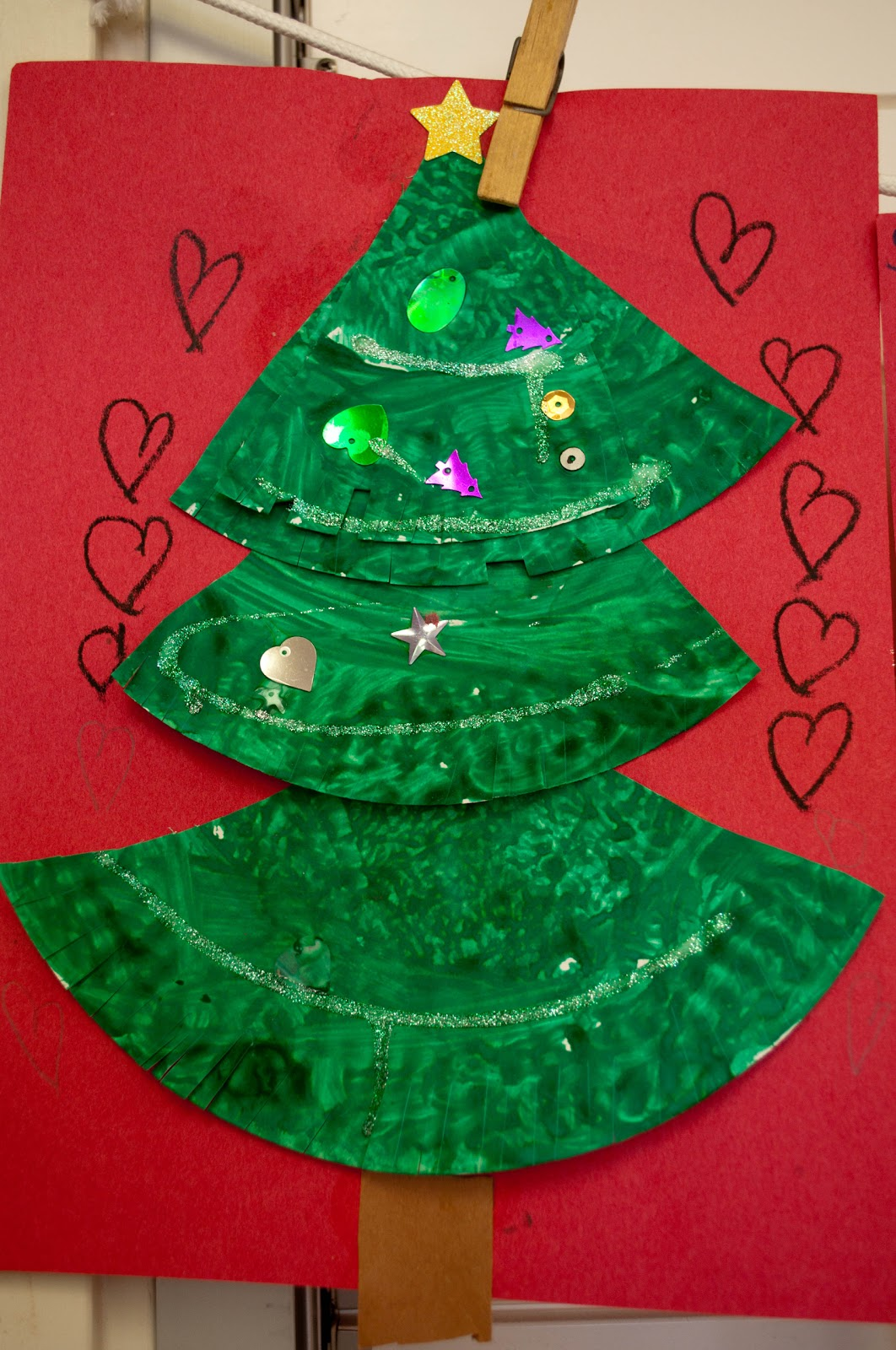 Mrs ricca 39 s kindergarten christmas tree craft for Christmas crafts for pre schoolers