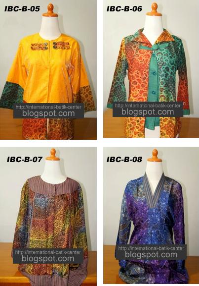 Gambar blouse batik wanita