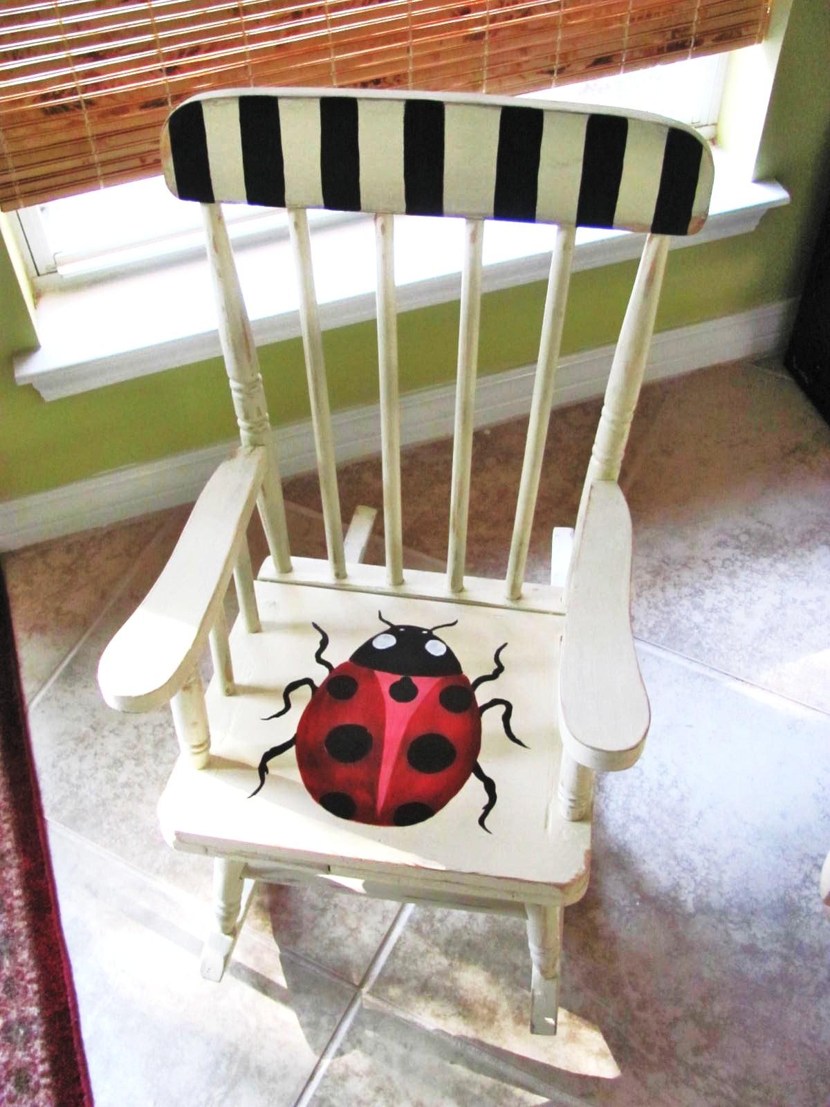 Ladybug Rocker...Trash to Cuteness