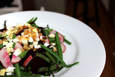 Beet Salad with Lemon Parmesan Vinaigrette