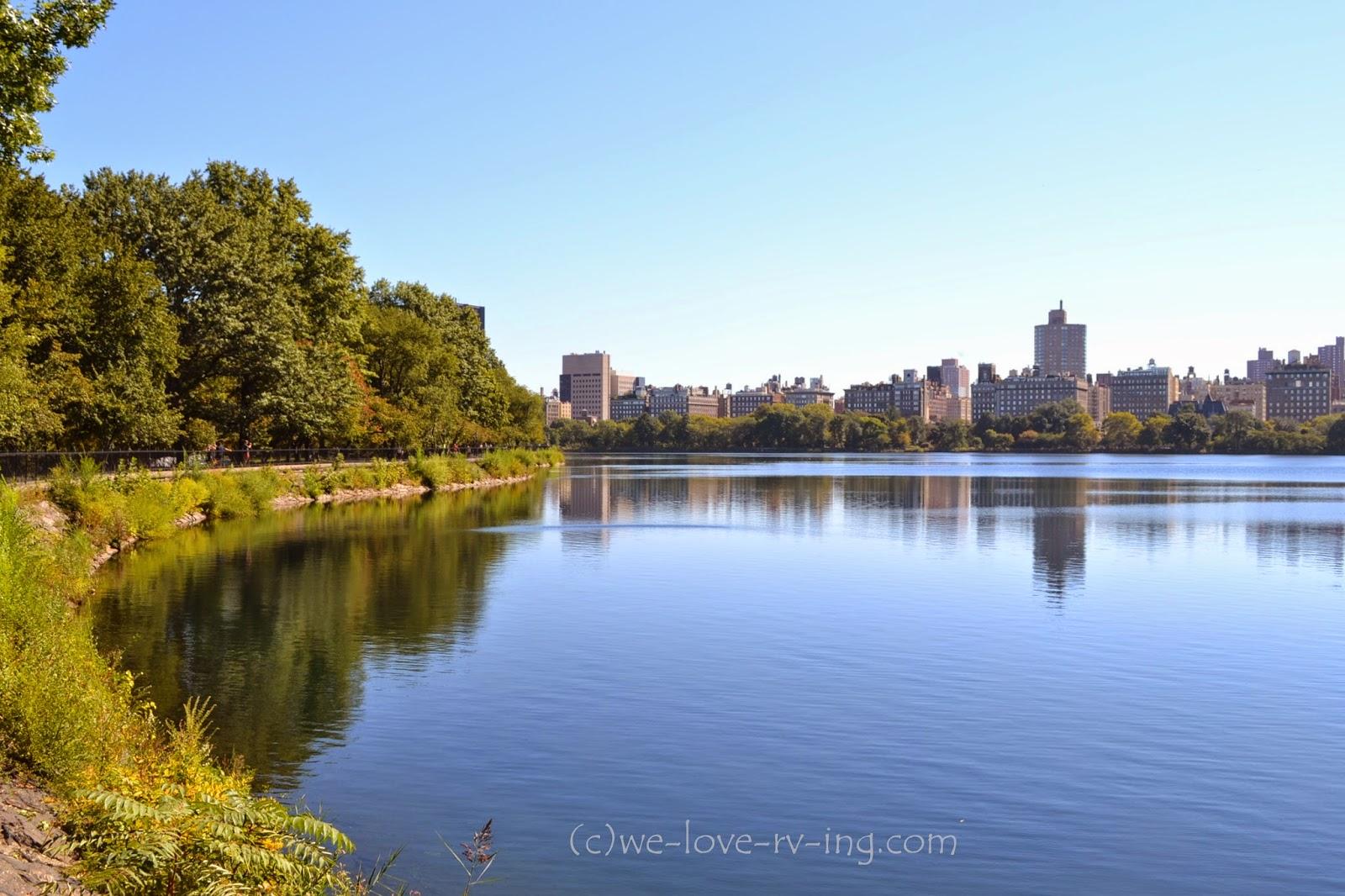 Entrance Central Park Reservoir Reservoir Central Park