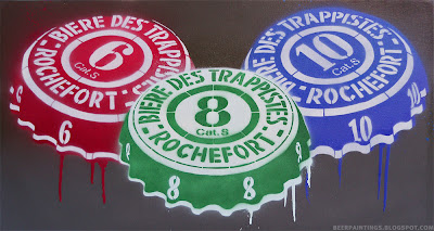 Rochefort beer painting