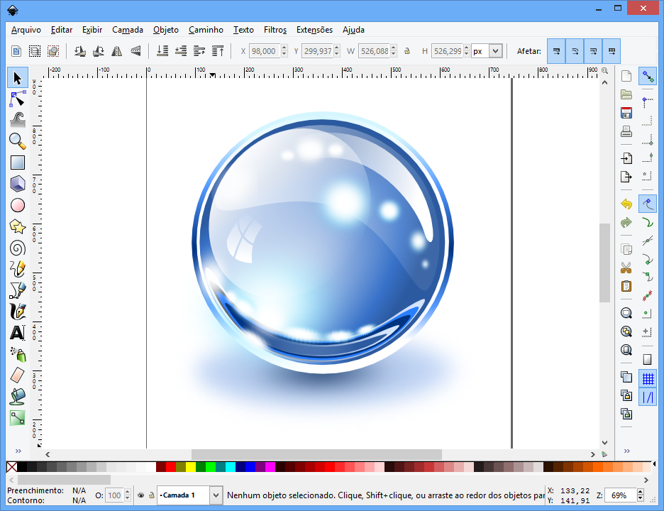 Glass Sphere Inkscape