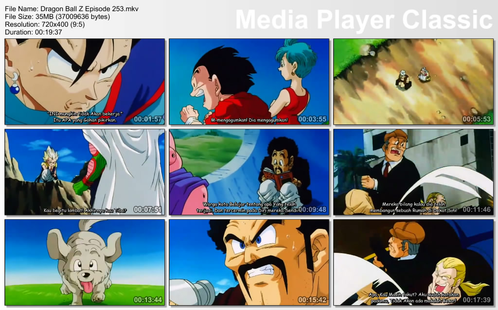 Download Film / Anime Dragon Ball Z Majin Buu Saga Episode 253 Bahasa