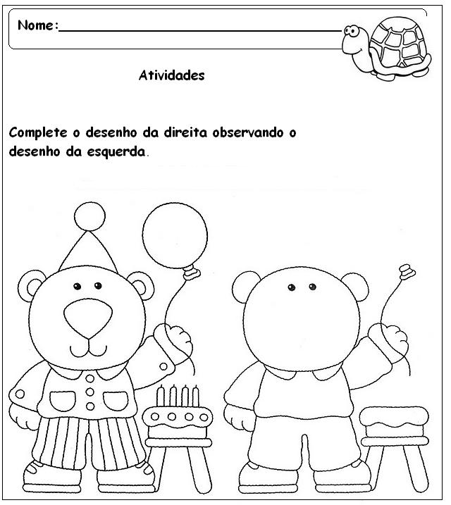 Suficiente Blog Professor Zezinho : Atividades Variadas Para Salas do Pré Escolar JD22