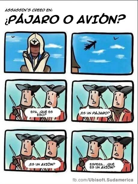 Es un pájaro, es un avión... superman assasins creed videojuegos gamer chiste