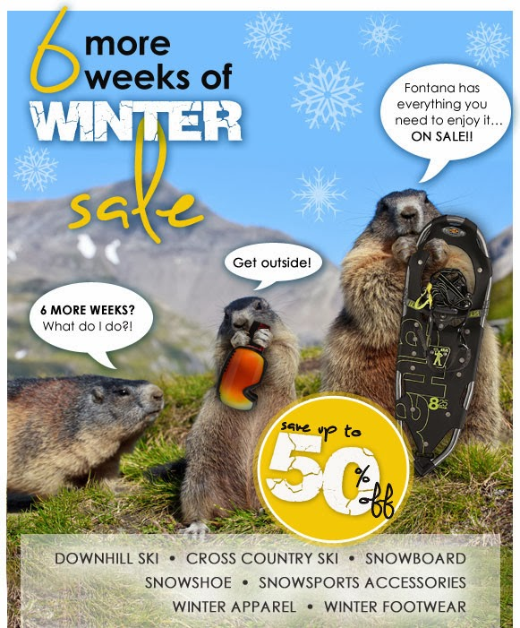 Fontana Sports - 6 More Weeks Of Winter Sale
