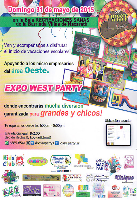 volante de la expo west party