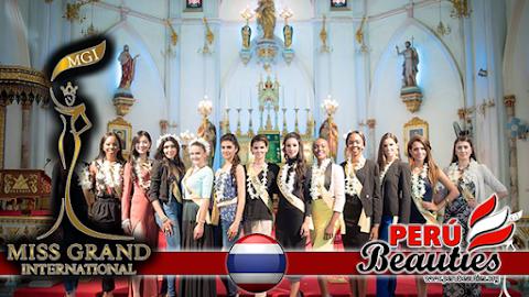 Candidatas visitan la Iglesia Católica de la Natividad - Miss Grand International 2015