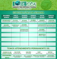 AGENDA SEMANAL ECON DE 28 Á 03 DE DEZEMBRO