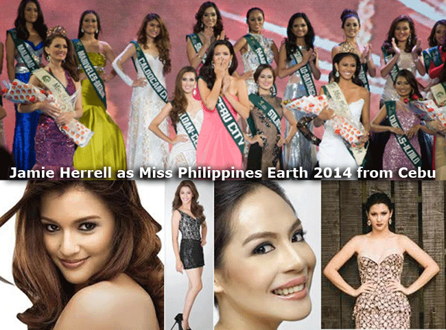 Jamie Herrell as Miss Philippines Earth 2014 from Cebu