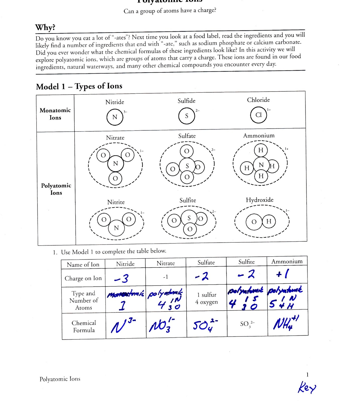 ... Ions Answer Key POGIL on activity series worksheet answer key