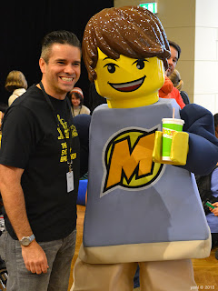 max, the lego club mascot... with hands perfectly sized for a boost juice