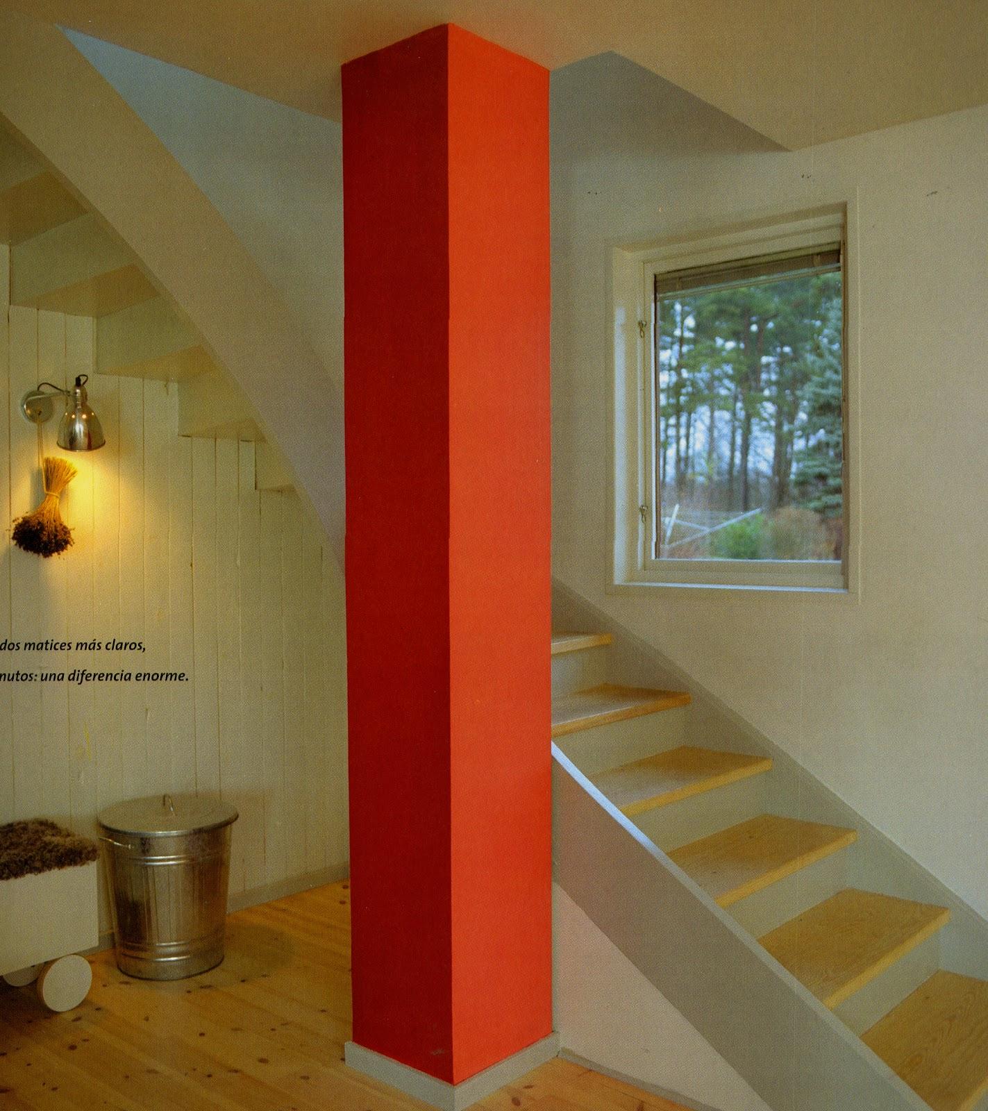 5 ideas para dar protagonismo a tus columnas decoraci n - Casas de madera redondas ...