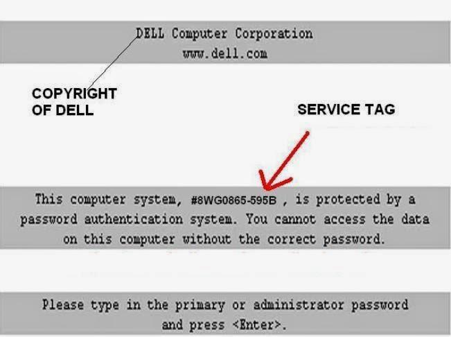dell e6410 bios password removal
