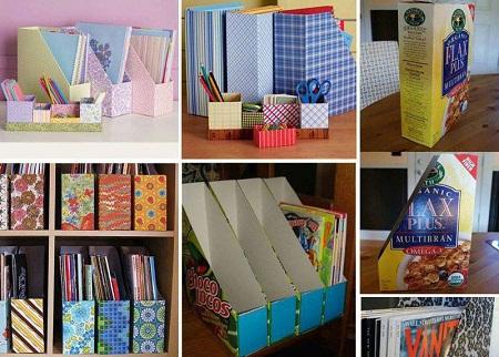 Como hacer porta objetos con cajas recicladas Plantillas decorativas ikea