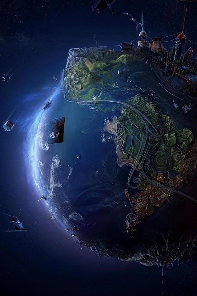3D Earth  Galaxy Note HD Wallpaper