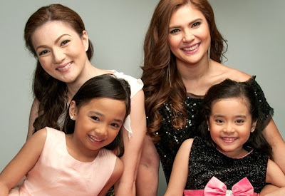 Carmina Villaroel and Vina Morales with newest child wonders Larah Claire Sabroso and Julia Klarisse Base