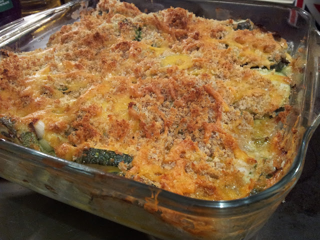 Courgette and Leek Gratin. Sheffield Food Blog.
