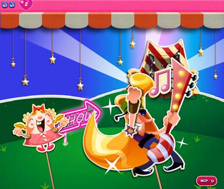 Candy Crush Saga 381-395 ending