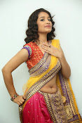 santoshini sharma photos in half saree-thumbnail-4