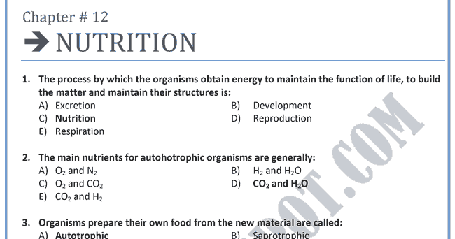Chapter 41 - Animal Nutrition