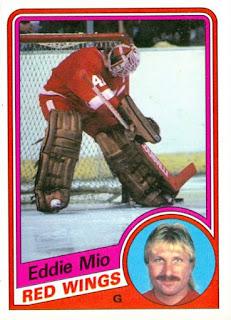 eddie mio detroit red wings hockey card
