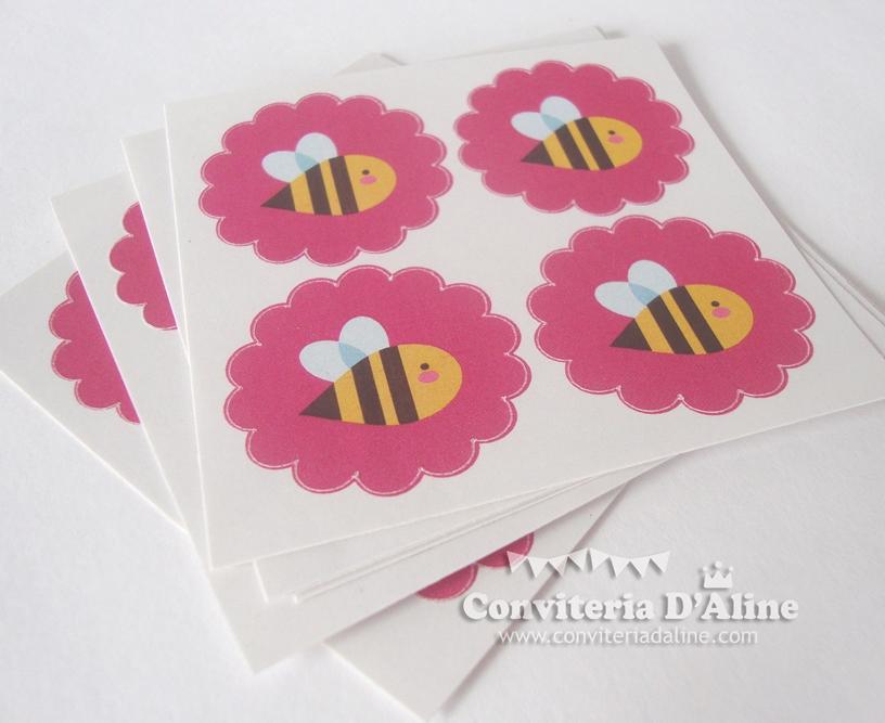 adesivo personalizado abelhinha
