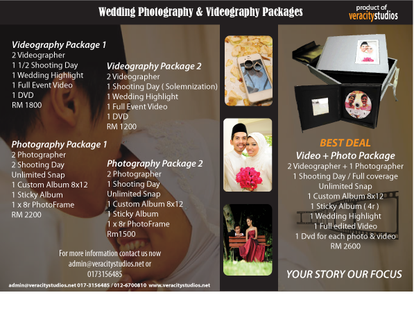 Veracity studios wedding for Wedding videography packages