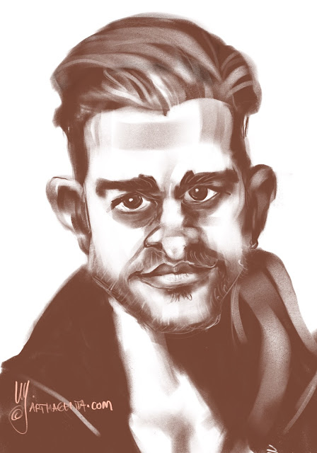 Justin Timberlake a caricature by Artmagenta
