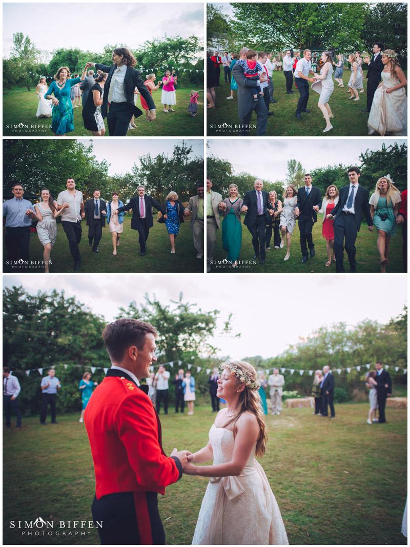 Ceilidh at Roughmoor Farm wedding