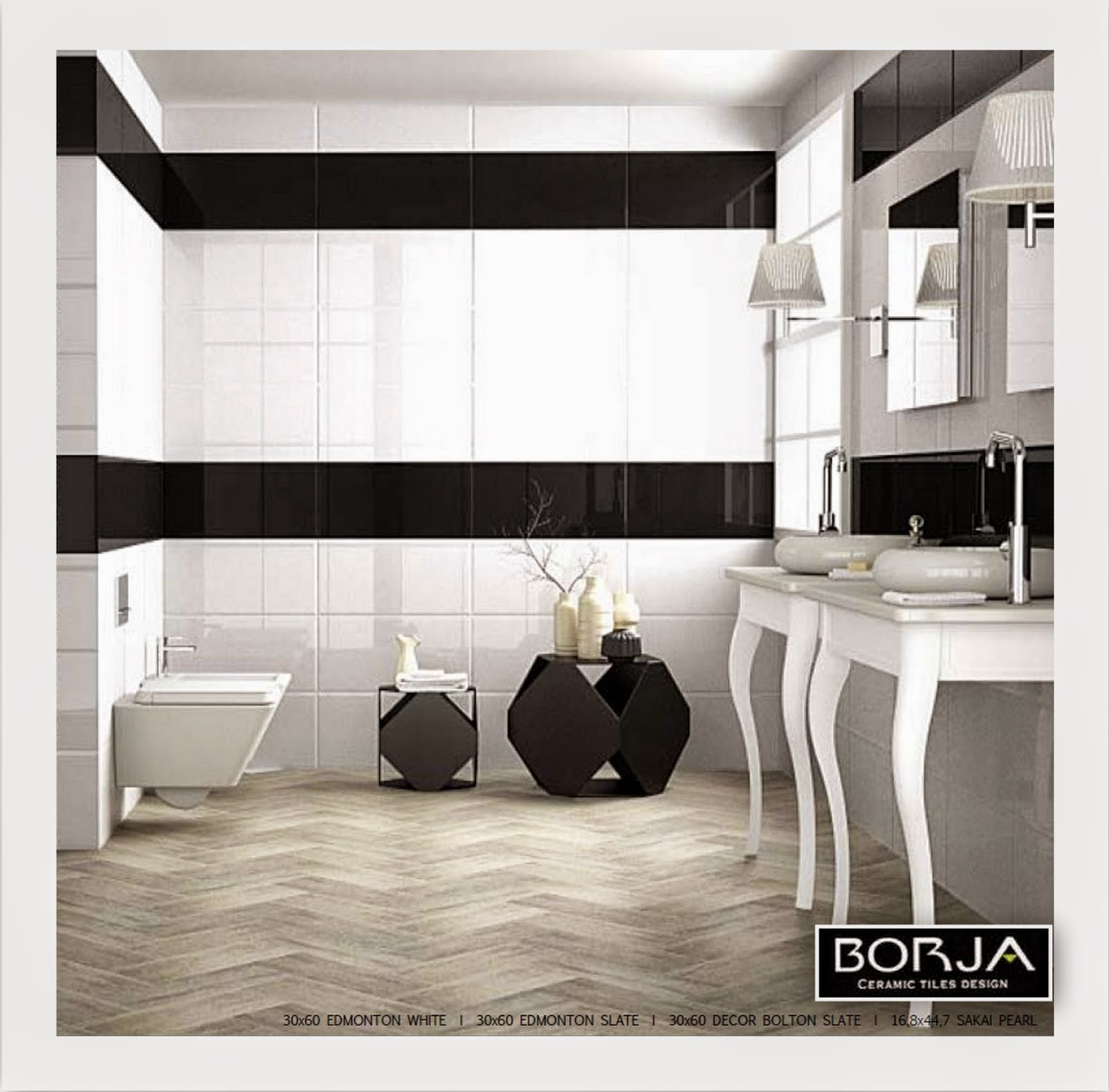 Borja ceramic tiles design exeder decoration 2014 30x60 for exquisite modern bathrooms with a sophisticated minimalism dailygadgetfo Choice Image