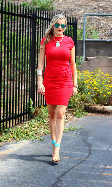 3 ways to style the ruched jersey dress, ribbed dress, Spring Style