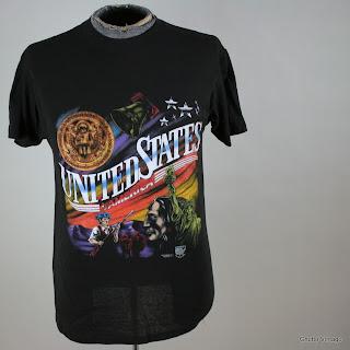 Vtg USA Truck Stop Native American t shirt MEDIUM 3D Emblem 50/50 Thin