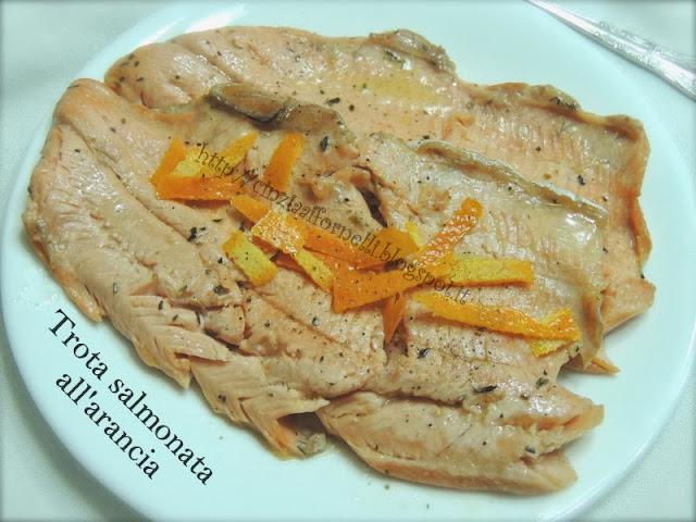 trota salmonata all'arancia