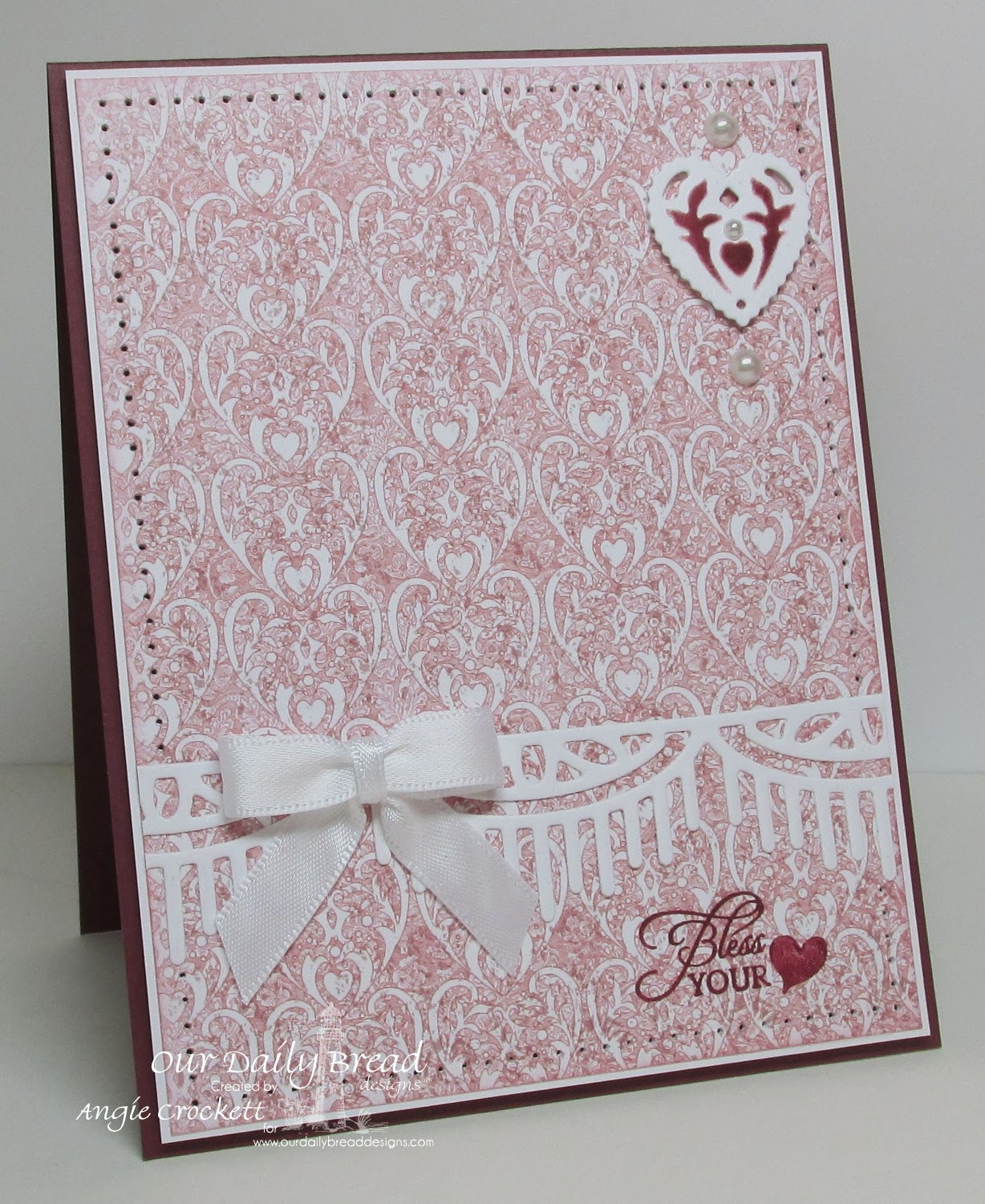 ODBD Bless Your Heart, ODBD Heart and Soul Designer Paper Collection, ODBD Custom Ornate Hearts Die Set, ODBD Custom Decorative Borders Die Set, Card Designer Angie Crockett