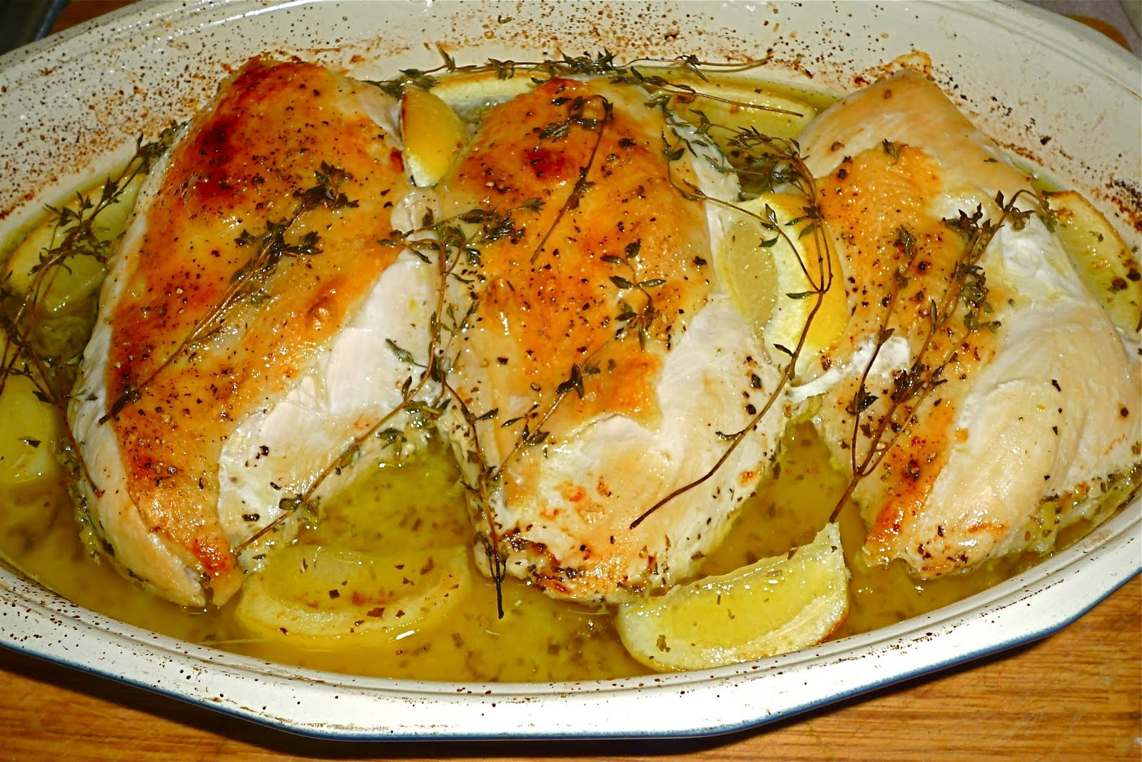 ... : My New Favorite Chicken Recipe: Lemon-Thyme Roasted Chicken Breasts
