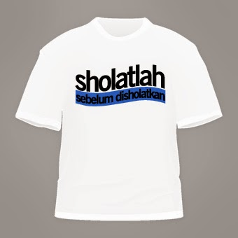 kaos-muslim-sholatlah-putih