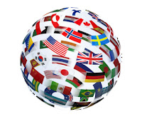 Flags of the World in a globe shape