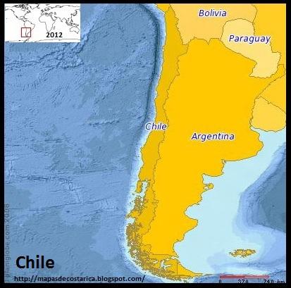 Mapa de CHILE (PLANIGLOBE)