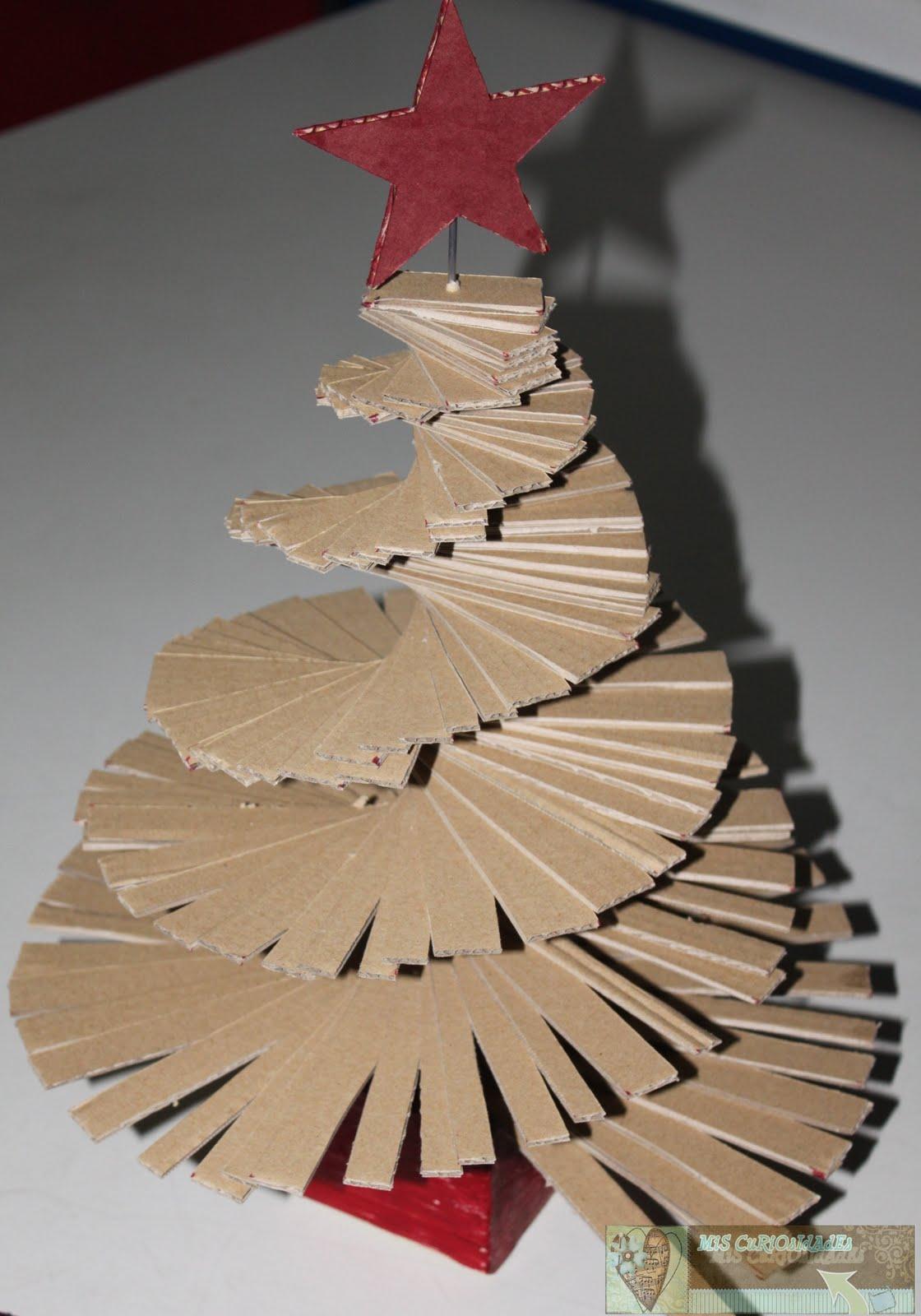 Mis curiosidades - Como hacer un arbol de navidad de carton ...
