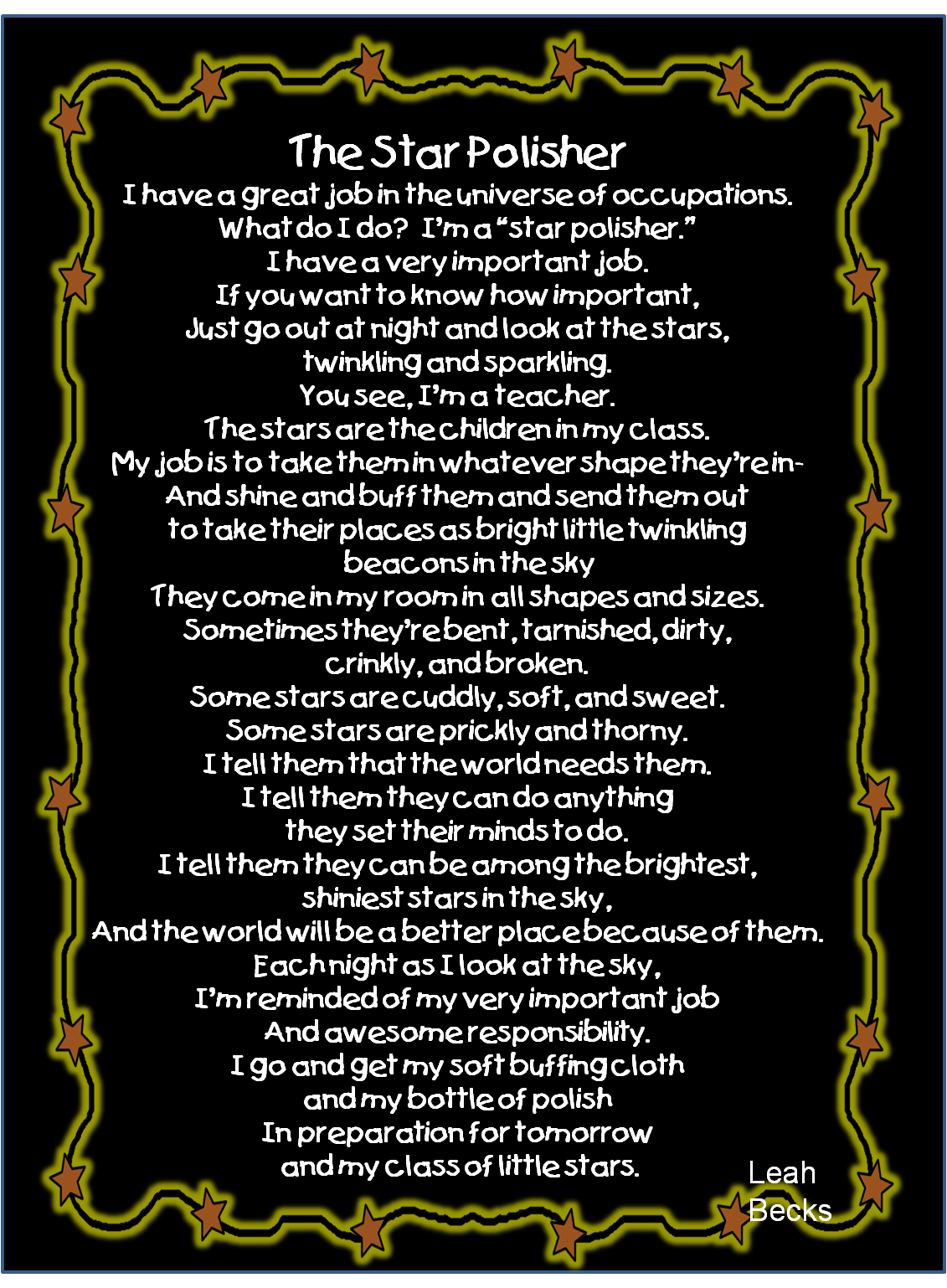 Thank You Poem For First Grade Teacher - 32 beautiful ...