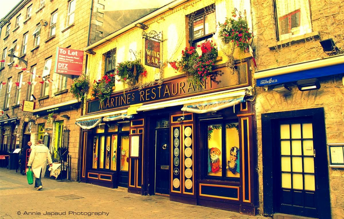 Shop street in Galway city