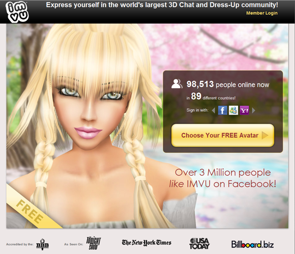 imvu access is free free memberships allow users to register: imvustore.blogspot.com/2012/05/imvu-avatar-chat.html