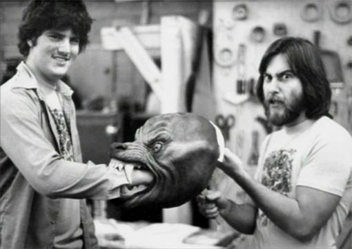 Rick Baker con la cabeza del lobo