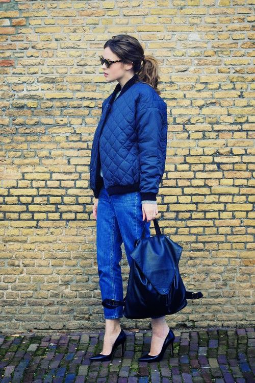 Bomber jackets-street style-quilted jackets