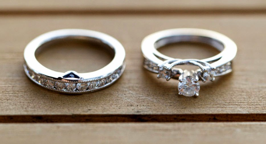 Lesbian 3 Diamond Wedding Rings Sets with Round Diamond Model pictures hd